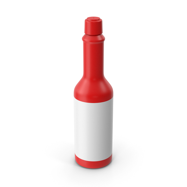 Condiment Dispenser: Red Hot Sauce Bottle PNG & PSD Images