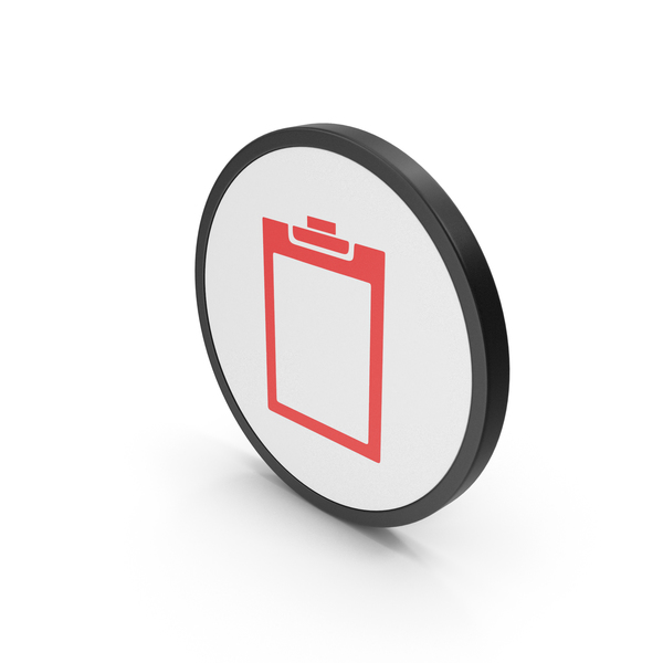 Logo: Red Icon Clipboard Empty PNG & PSD Images