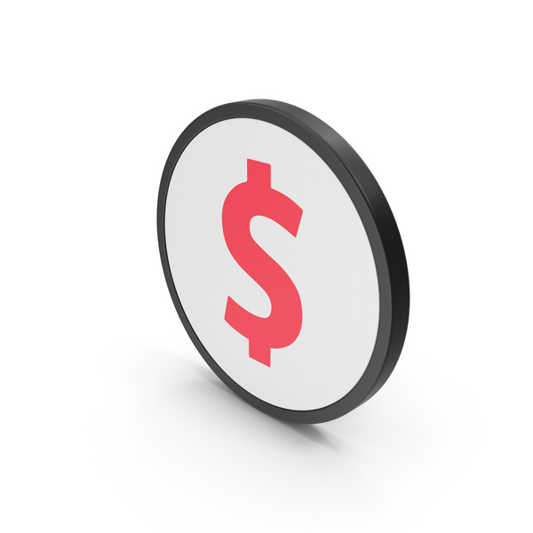 Currency Symbols: Red Icon Dollar PNG & PSD Images