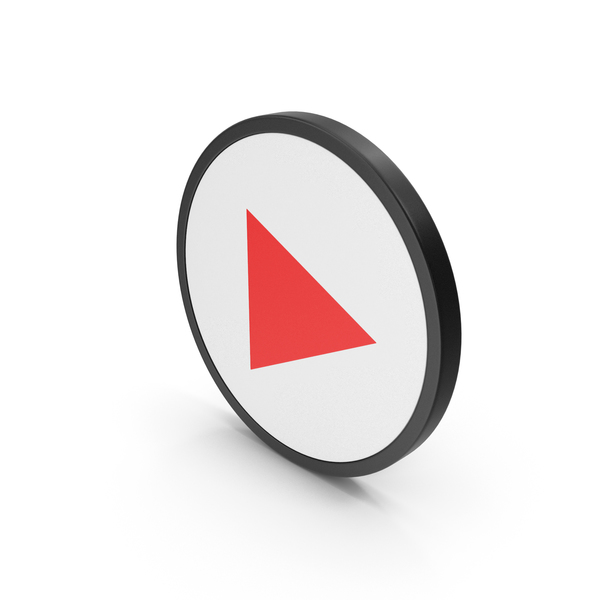 Symbol: Red Icon Play Button PNG & PSD Images