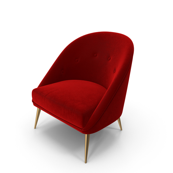 Arm Chair: Red Koket Nessa Armchair PNG & PSD Images