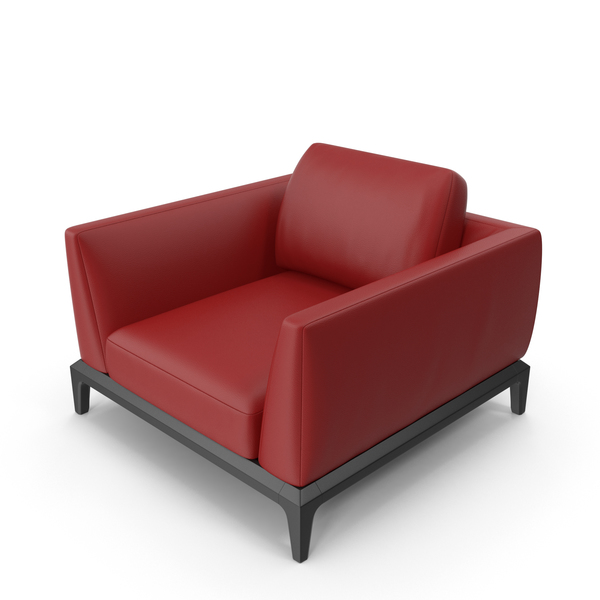 Red Leather Office Sofa PNG & PSD Images