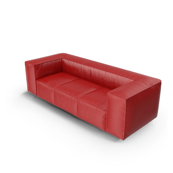 Red Leather Sofa PNG & PSD Images
