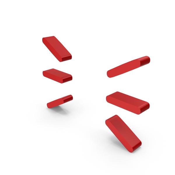 Zig Zag: Red Lines Symbol PNG & PSD Images
