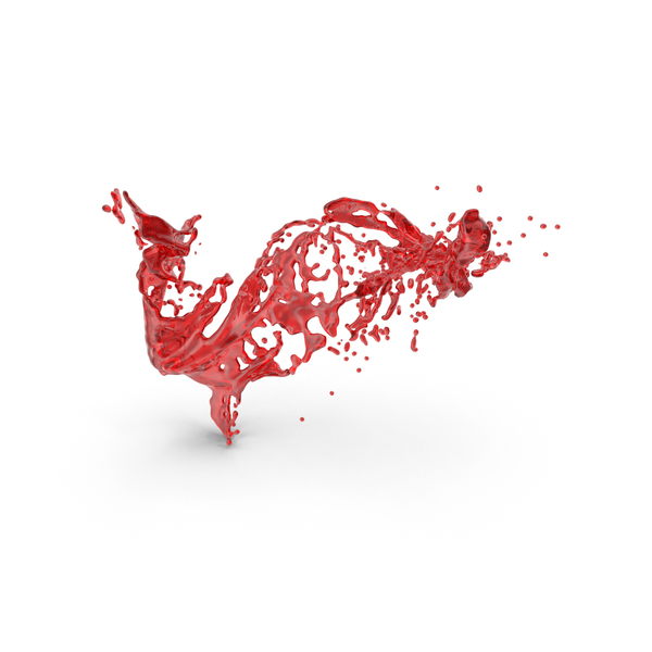 Red Liquid Slash Effect PNG & PSD Images