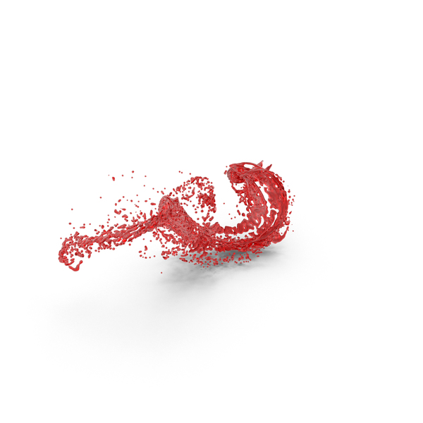 Red Liquid Splash Effect PNG & PSD Images
