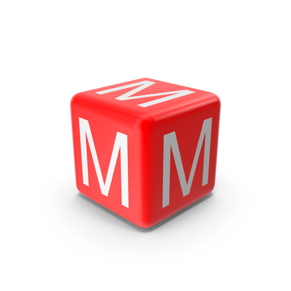 Red M Block Object