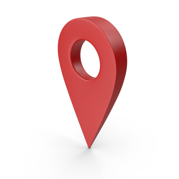 Red Map Pointer Object