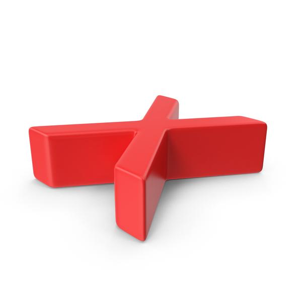Red Multiplication Symbol PNG & PSD Images