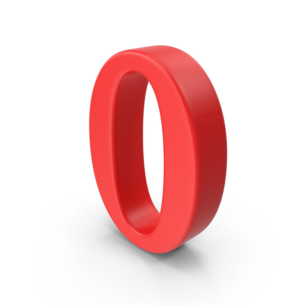 Red Number 0 PNG & PSD Images