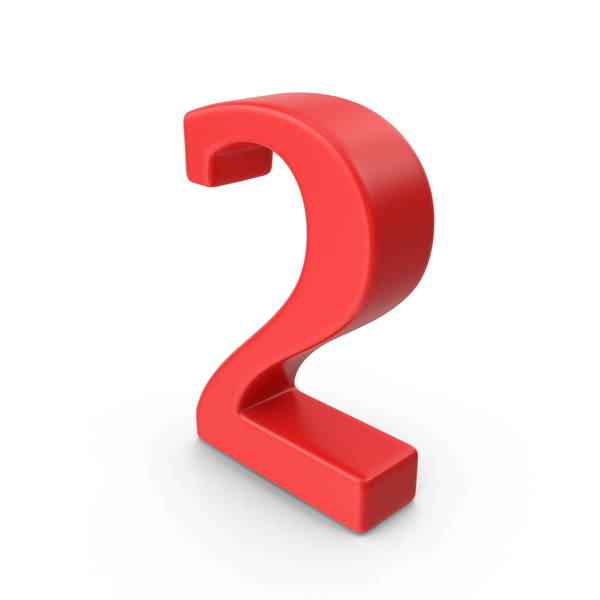 Red Number 2 PNG & PSD Images