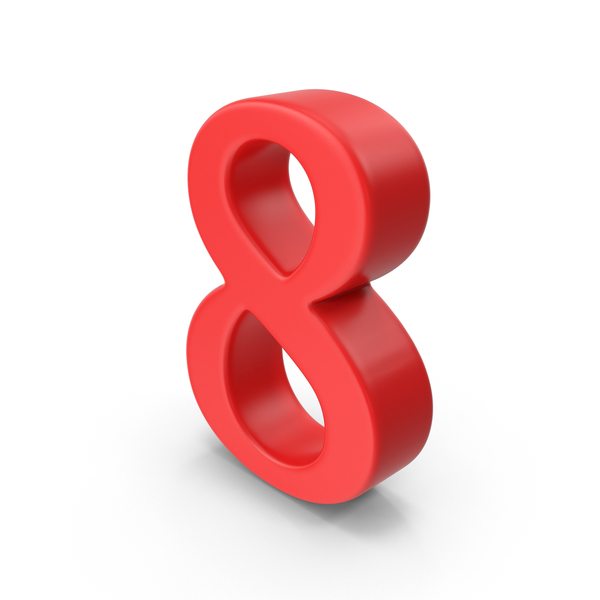Red Number 8 Object