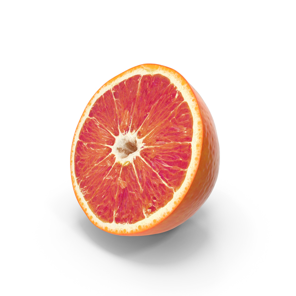 Red Orange Half Cut PNG & PSD Images