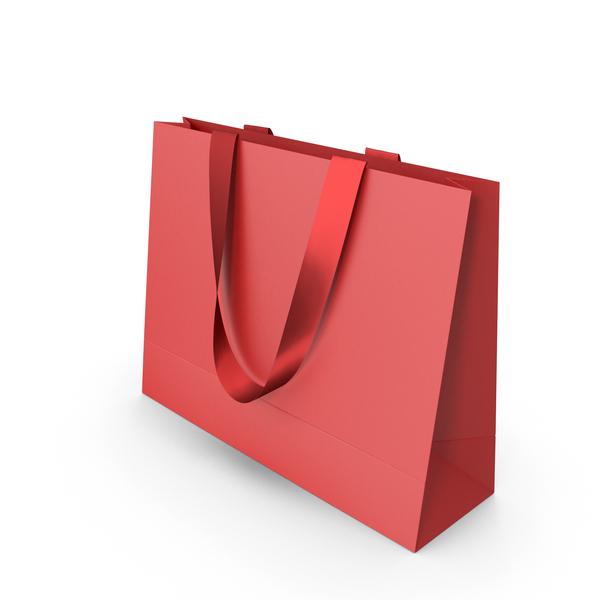 Red Paper Bag with Red Handles PNG & PSD Images