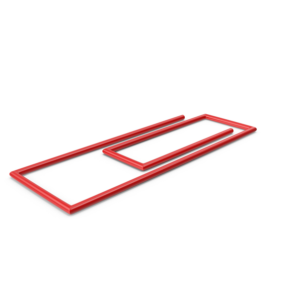 Red Paper Clip PNG & PSD Images