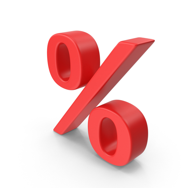 Red Percentage Sign PNG & PSD Images