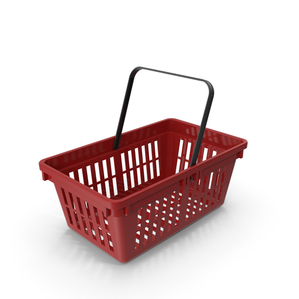 Red Plastic Basket PNG & PSD Images