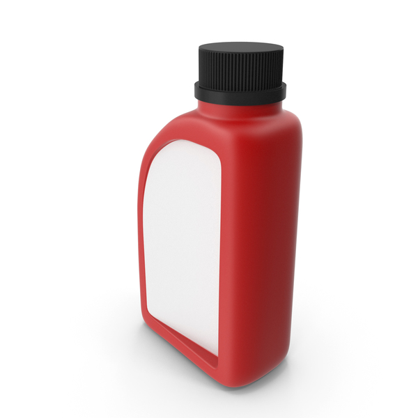 Fuel Can: Red Plastic Jerrycan with Black Cap PNG & PSD Images