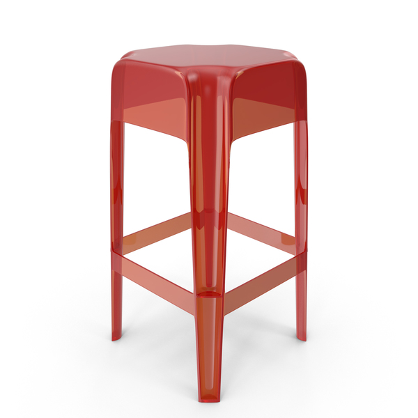 Red Plexiglass Bar stool PNG & PSD Images