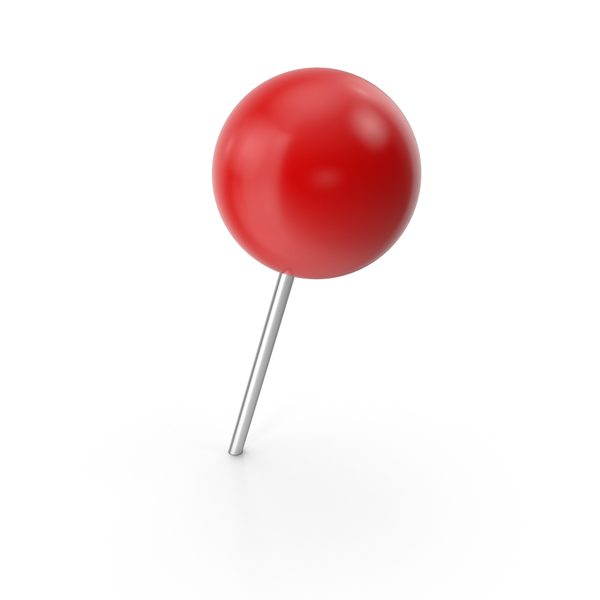 Thumbtack: Red Point Pin PNG & PSD Images