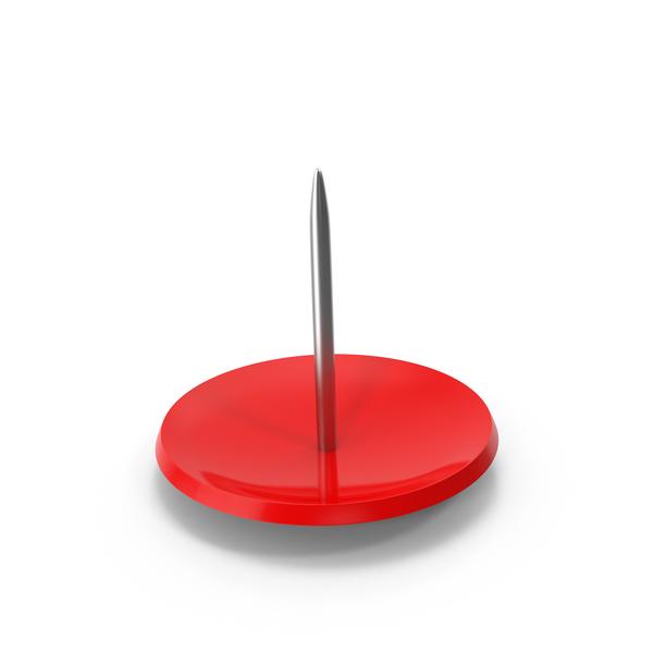 Thumbtack: Red Push Pin Upside Down PNG & PSD Images