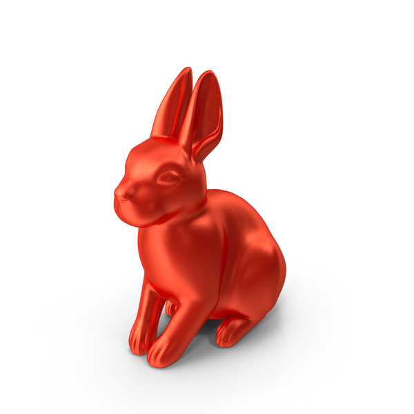 Red Rabbit Figurine PNG & PSD Images