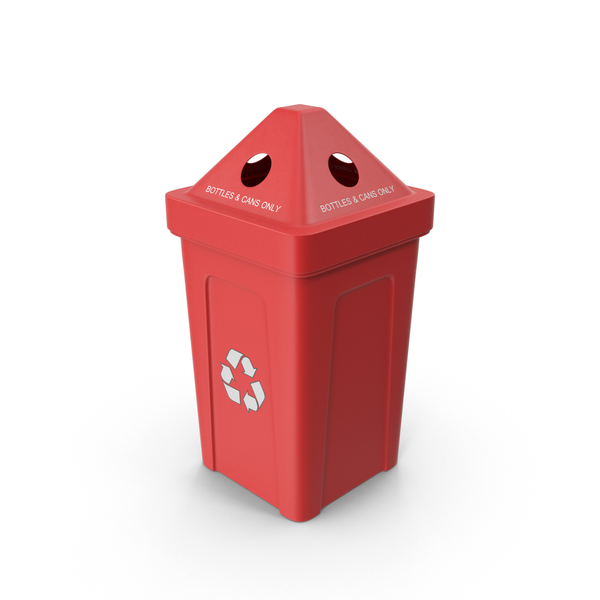Red Recycling Bin PNG & PSD Images