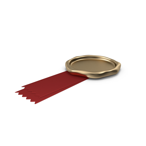 Red Ribbon with Wax Stamp PNG & PSD Images