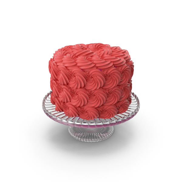 Red Rose Swirl Cake PNG & PSD Images