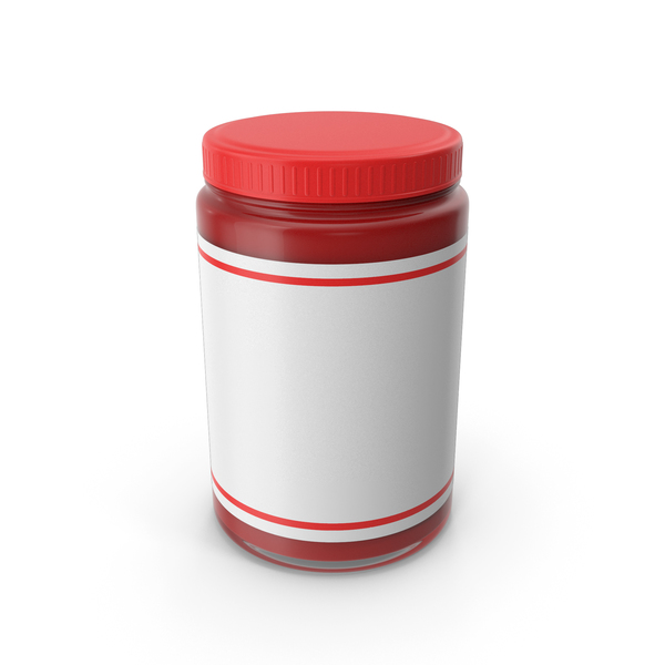 Food Container: Red Sauce Jar PNG & PSD Images