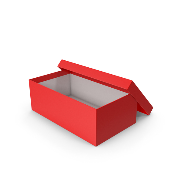 Red Shoe Box Opened PNG & PSD Images