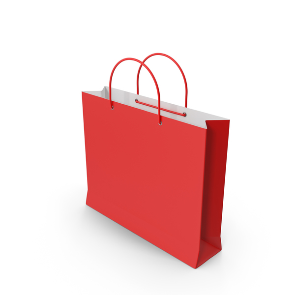 Paper: Red Shopping Bag PNG & PSD Images