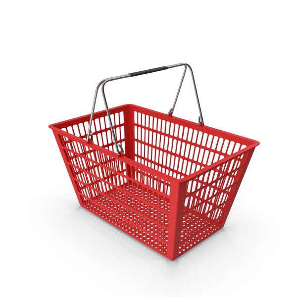 Red Shopping Basket PNG & PSD Images
