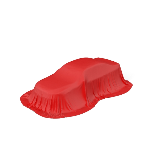 Red Silk Car Tent Object