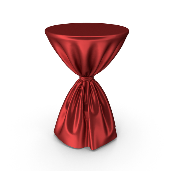 Red Silk Tablecloth Cocktail Table PNG & PSD Images