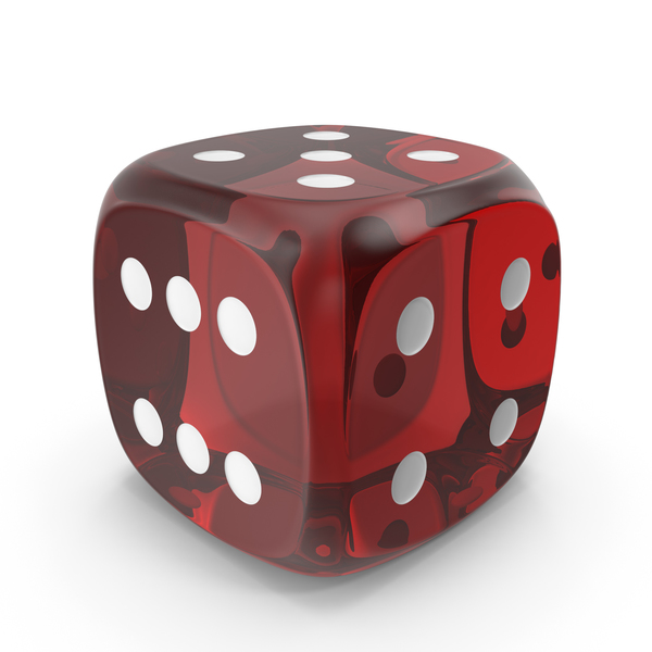 Red Six Sided Die PNG & PSD Images