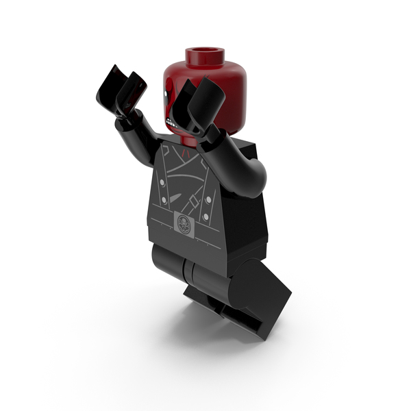 Lego People: Red Skull Version 2 Jumping PNG & PSD Images