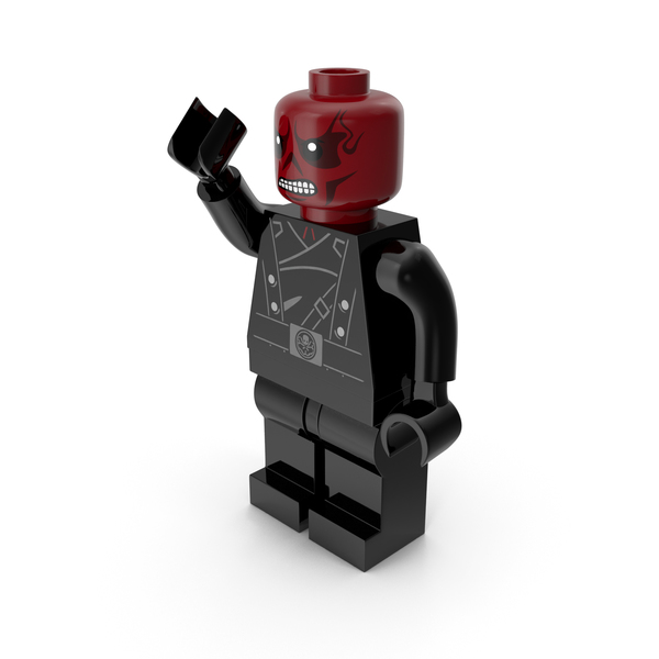 Lego People: Red Skull Version 2 Pose PNG & PSD Images