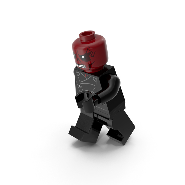 Lego People: Red Skull Version 2 Running PNG & PSD Images