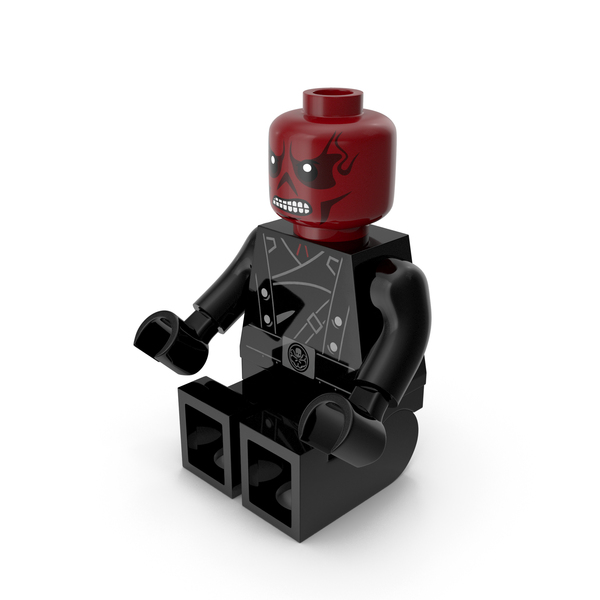 Lego People: Red Skull Version 2 Sitting PNG & PSD Images