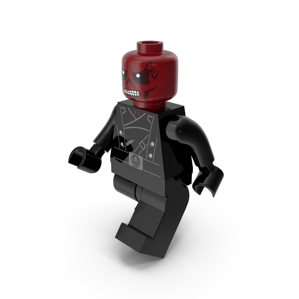 Lego People: Red Skull Version 2 Walk PNG & PSD Images