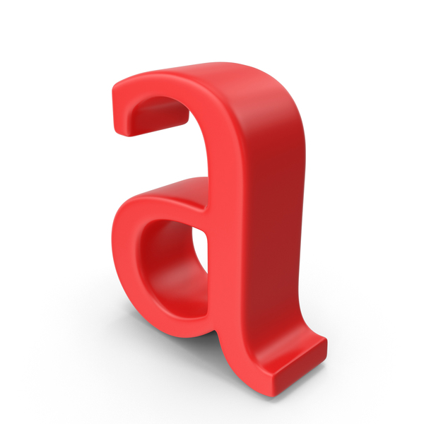 Red Small Letter a PNG & PSD Images