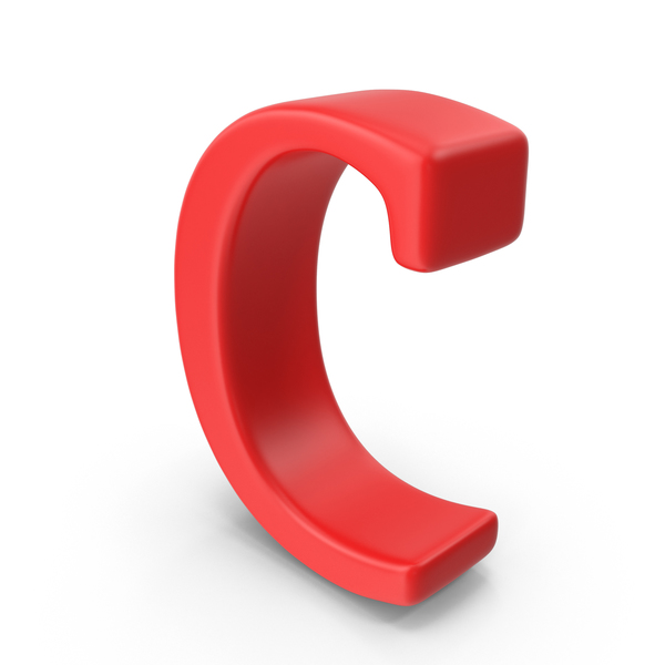 Red Small Letter C PNG & PSD Images