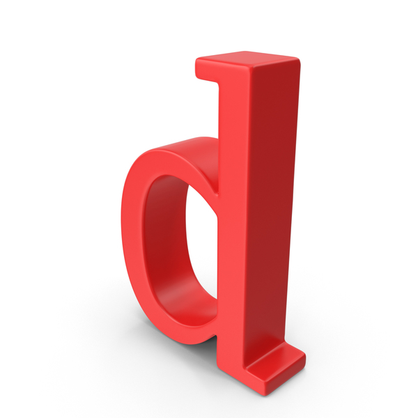 Red Small Letter D Object