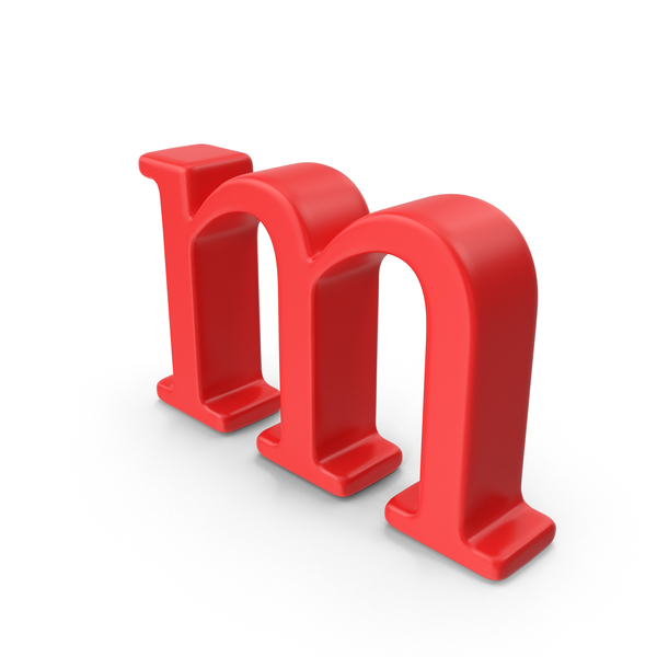 Red Small Letter M Object