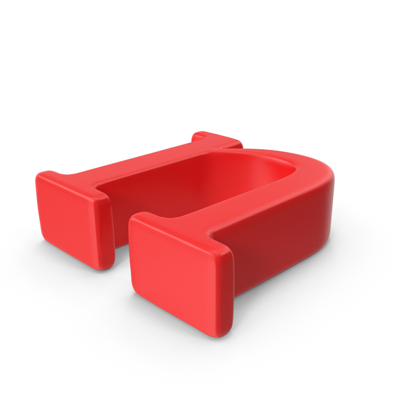 Red Small Letter N Object