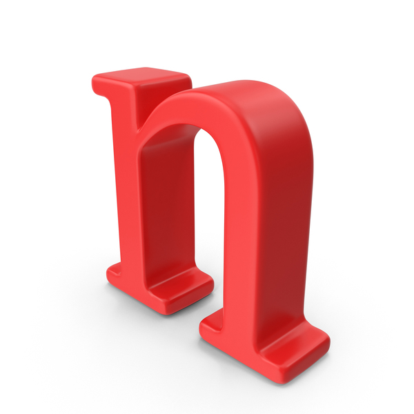 Red Small Letter n PNG & PSD Images