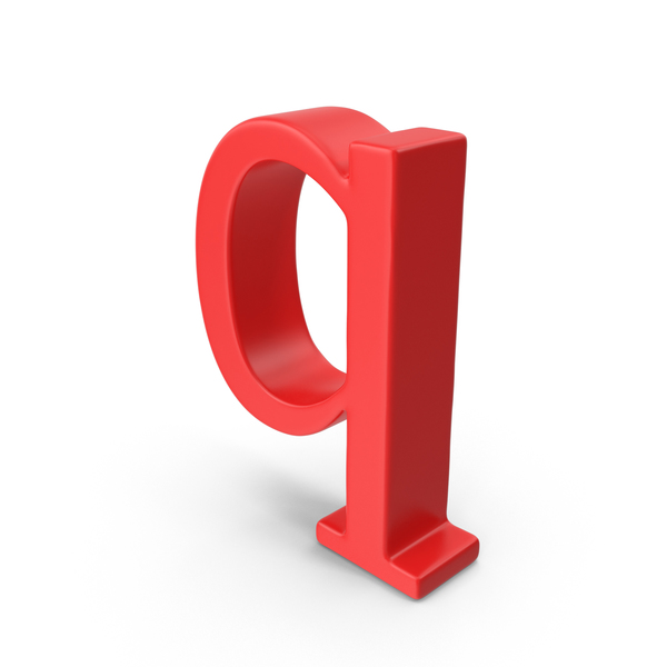 Red Small Letter Q Object