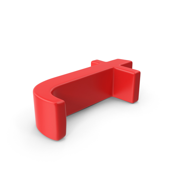 Red Small Letter T Object