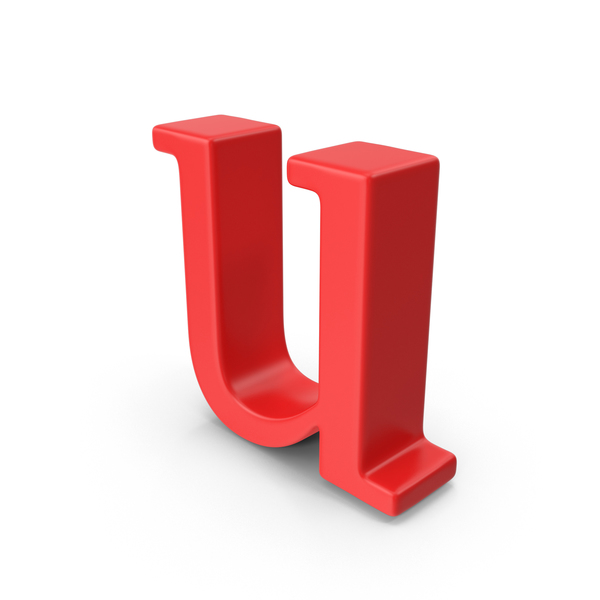Red Small Letter u PNG & PSD Images